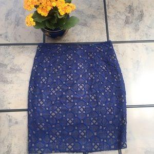 Catherine Malandrino • Pattern Print Lace Skirt